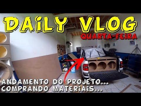 Daily Vlog Quarta-feira Andamento do Projeto e mostrando onde comprar materiais...☢JuNiOr SoM♛®