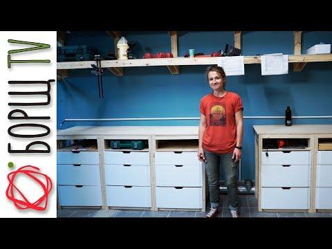 Столы с ящиками (+ чертежи) | Обустройство новой столярной мастерской
