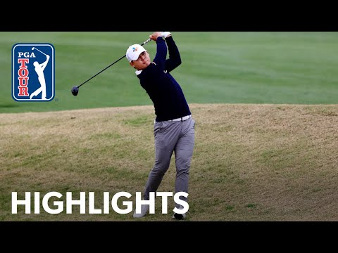 Si Woo Kim shoots 5-under 67 | Round 3 | The American Express | 2021
