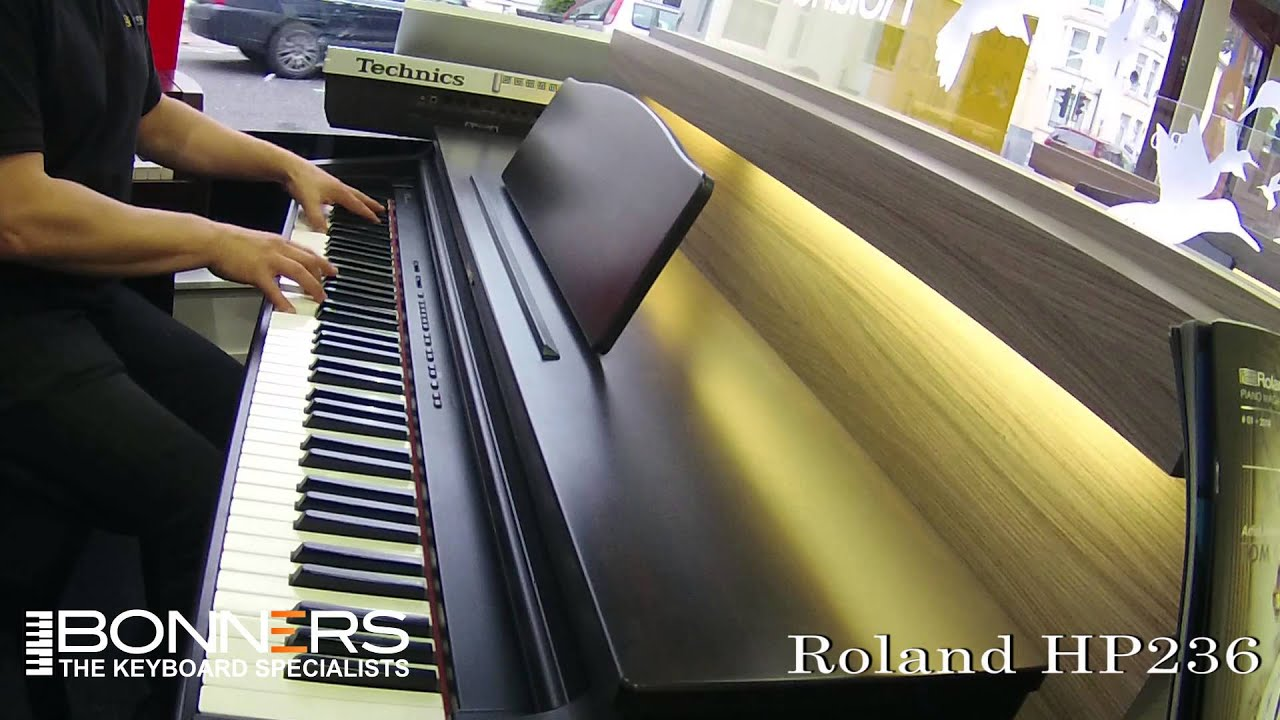 roland hp236 digital piano demo youtube. Black Bedroom Furniture Sets. Home Design Ideas