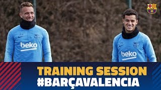 Happy workout after the comeback against Sevilla