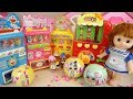 Baby doll drinks machine and Surprise egg toys play