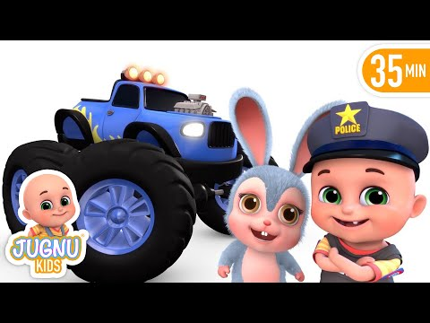 Thumbnail: Car Videos | Monster Trucks | Vehicle Song | Nursery Rhymes Compilation from Jugnu Kids