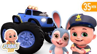 Car s | Monster Trucks | Vehicle Song | Nursery Rhymes Compilation from Jugnu Kids