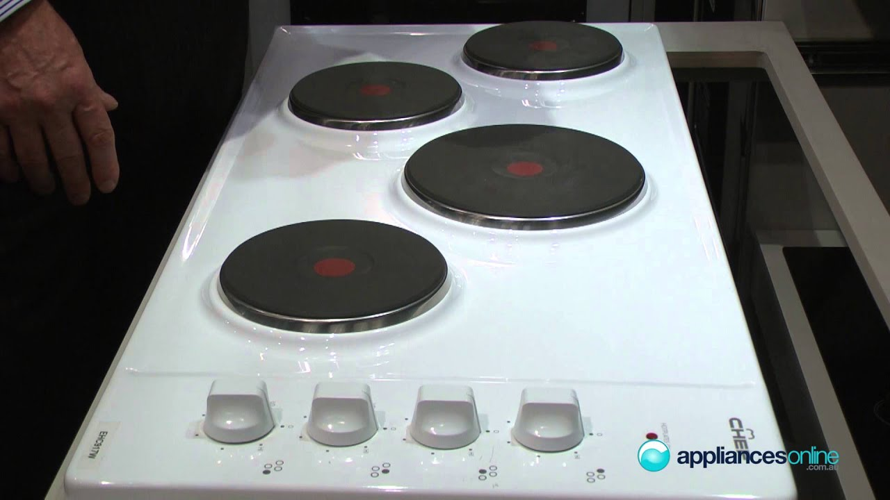 Expert Product Review Of The Ehc917w Chef Cooktop With Solid Heating Elements Liances Online