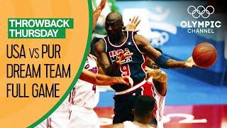 USA's Dream Team vs. Puerto Rico - Basketball Replays | Throwback Thursday