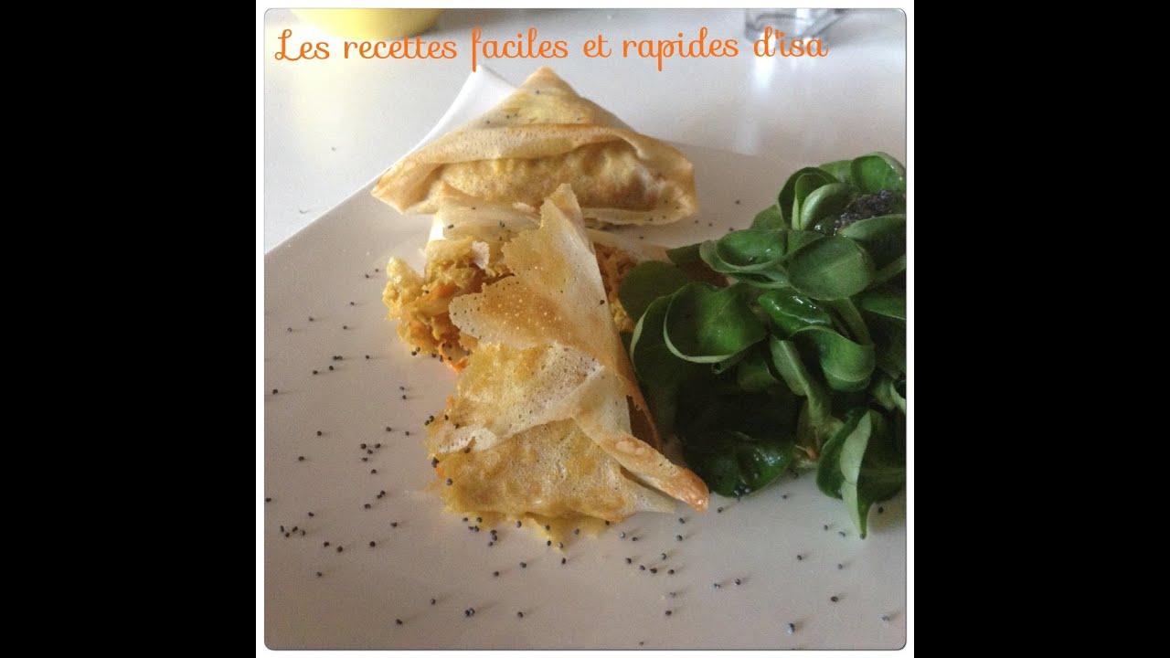 Recette Nuggets De Poulet Rapides Facile: Recette Samosa De Poulet Au Curry Facile Rapide