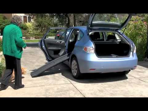 Dog Ramp For Car >> testing the dog ramp at the car - YouTube