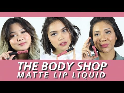 The Body Shop Matte Lip Liquid | FD Swatch Sister