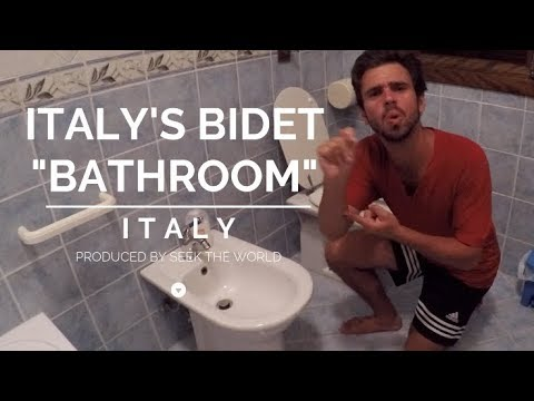 Italy's Bidet: Cleaning Yourself After Using The Toilet.