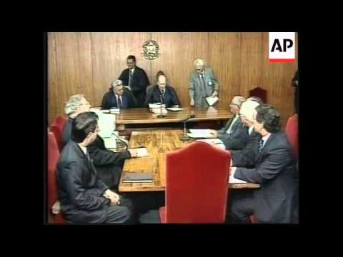 BRAZIL: FORMER PARAGUAYAN DICTATOR OVIEDO IN COURT