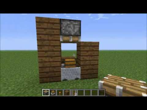 Minecraft gitch secret chest using a minecart tutorial for Minecraft carpentry bench