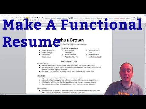 How To Build A Functional Resume
