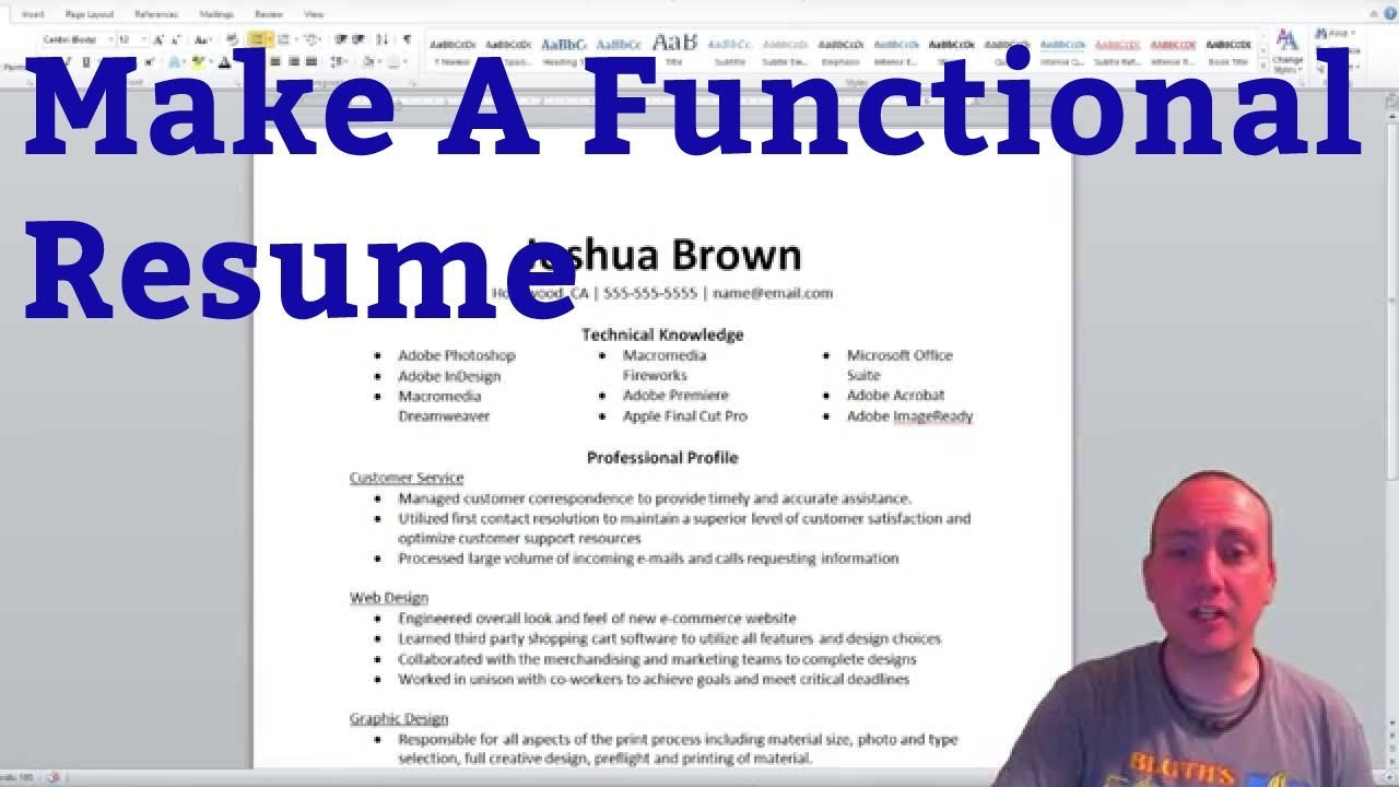 how to make a functional resume