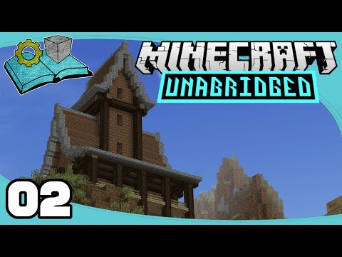 Minecraft Unabridged - Ep. 2: Starter House Tower | Primus Unabridged Modpack Let's Play
