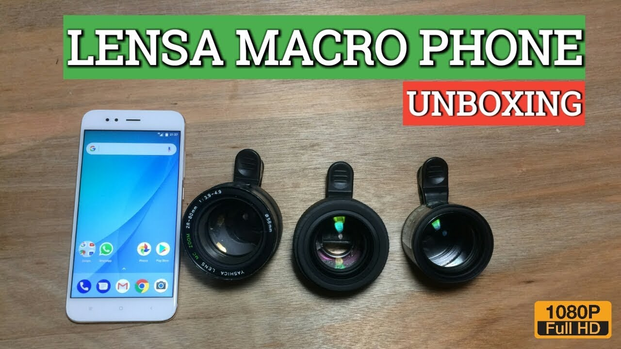 Unboxing Lensa Macro Smartphone Youtube Lensbong Bongkaran Makro Hp