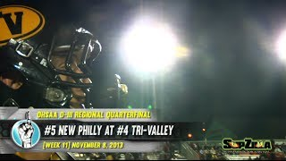 HS Football: New Philadelphia at Tri-Valley [PLAYOFFS] (11/8/13)