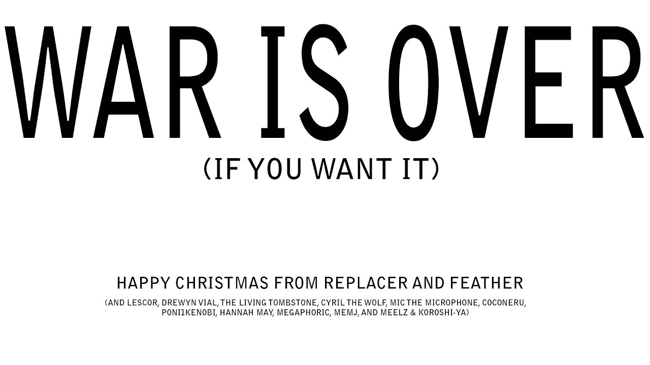 replacer happy xmas war is over cover ft feather