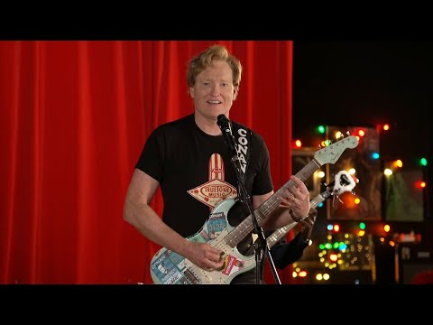 "Conan & The Basic Cable Band Perform ""Santa Claus Is Back In Town"""