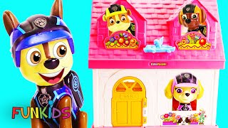 Paw Patrol Move into New LOL Surprise Doll House
