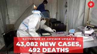 Coronavirus Update Nov 27: India recorded 43,082 new Covid-19 cases, 492 deaths