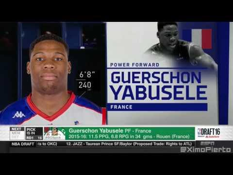 2016 NBA Draft   #16 Pick׃ Guerschon Yabusele   Boston Celtics