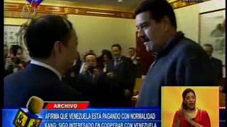 China señaló que Venezuela está pagando la deuda sin retraso