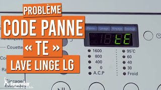 Code Panne tE - Lave-Linge LG