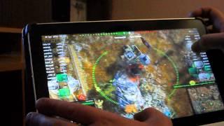 WoT на планшете Acer W700 на СЕНСОРНОМ ЭКРАНЕ!!!