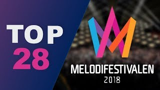 Melodifestivalen 2018 // My top 28