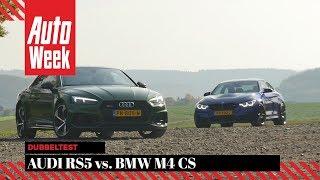 audi rs5 vs bmw m4 cs autoweek dubbeltest