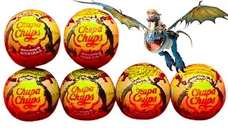 How to train your Dragon Chupa Chups surprise eggs unboxing toys