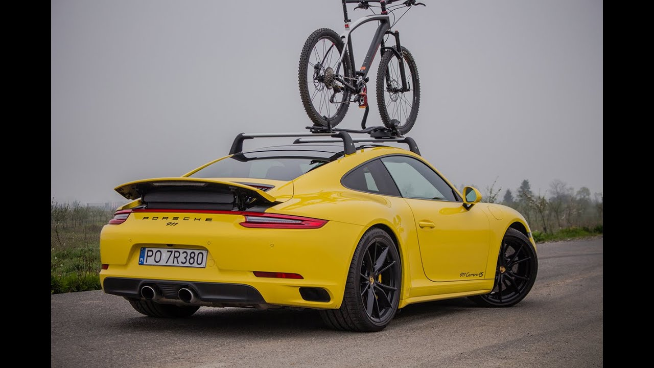 Porsche 911 Carrera 4s 991 2 With Bike On The Roof