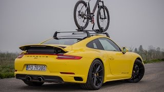 Porsche 911 Carrera 4S (991.2) with Bike on the roof! Acceleration and great sound!(Porsche 911 Carrera 4S (991.2) 2017 with BIKE!, 2016-05-03T09:27:19.000Z)