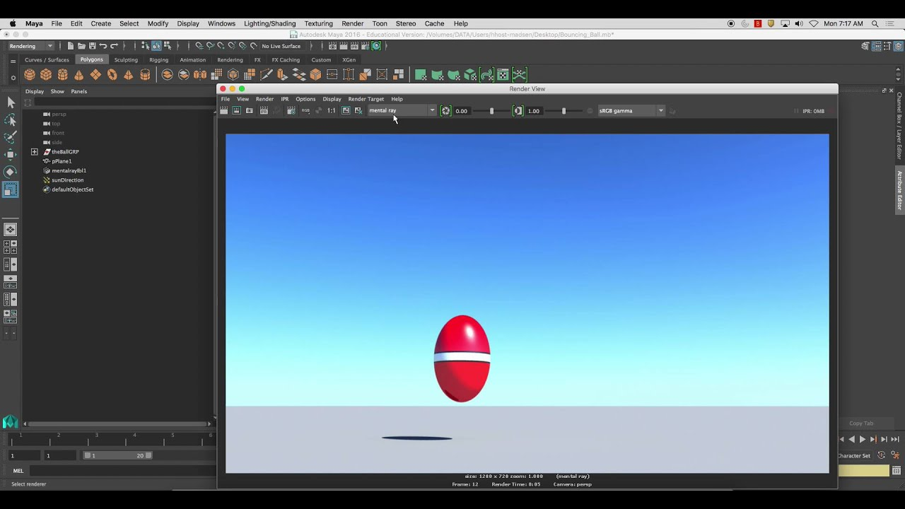 Exporting Rendered Animation from Maya