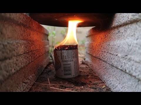 วิธีทำเตาแก๊สโดยใช้กระป๋องกับเทียน