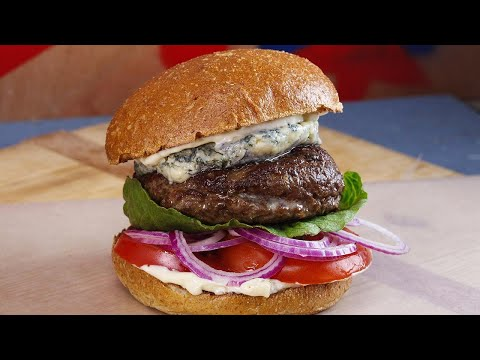 Emeril's Kicked Up Blue Cheese-Stuffed Hamburgers