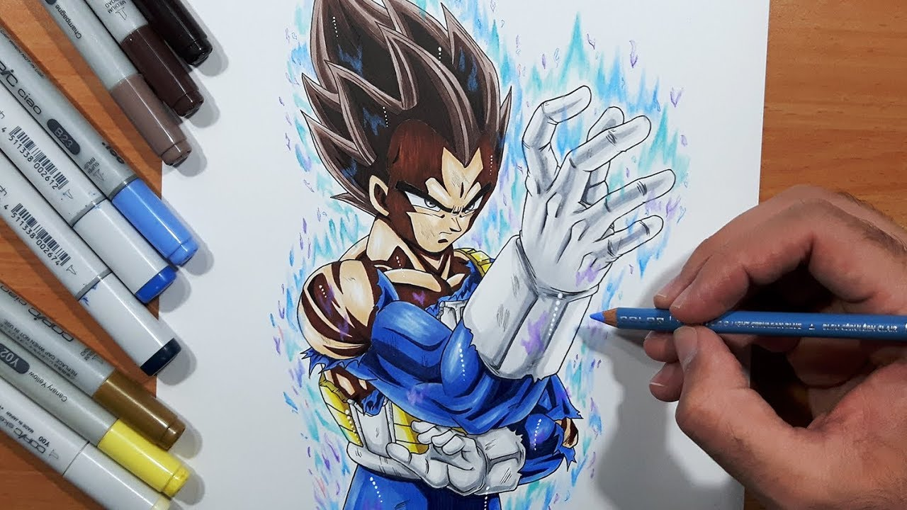 Never Seen Drawing Vegeta Ultra Instinct Dragon Ball Super Youtube