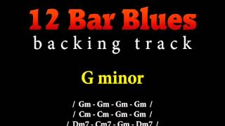 Slow blues backing track in G minor for guitar solo (12 bar blues)