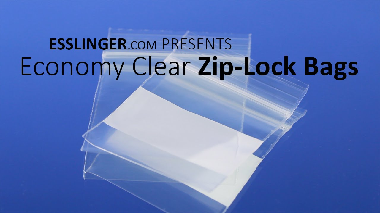 Economy Clear Zip-Lock Bags - YouTube