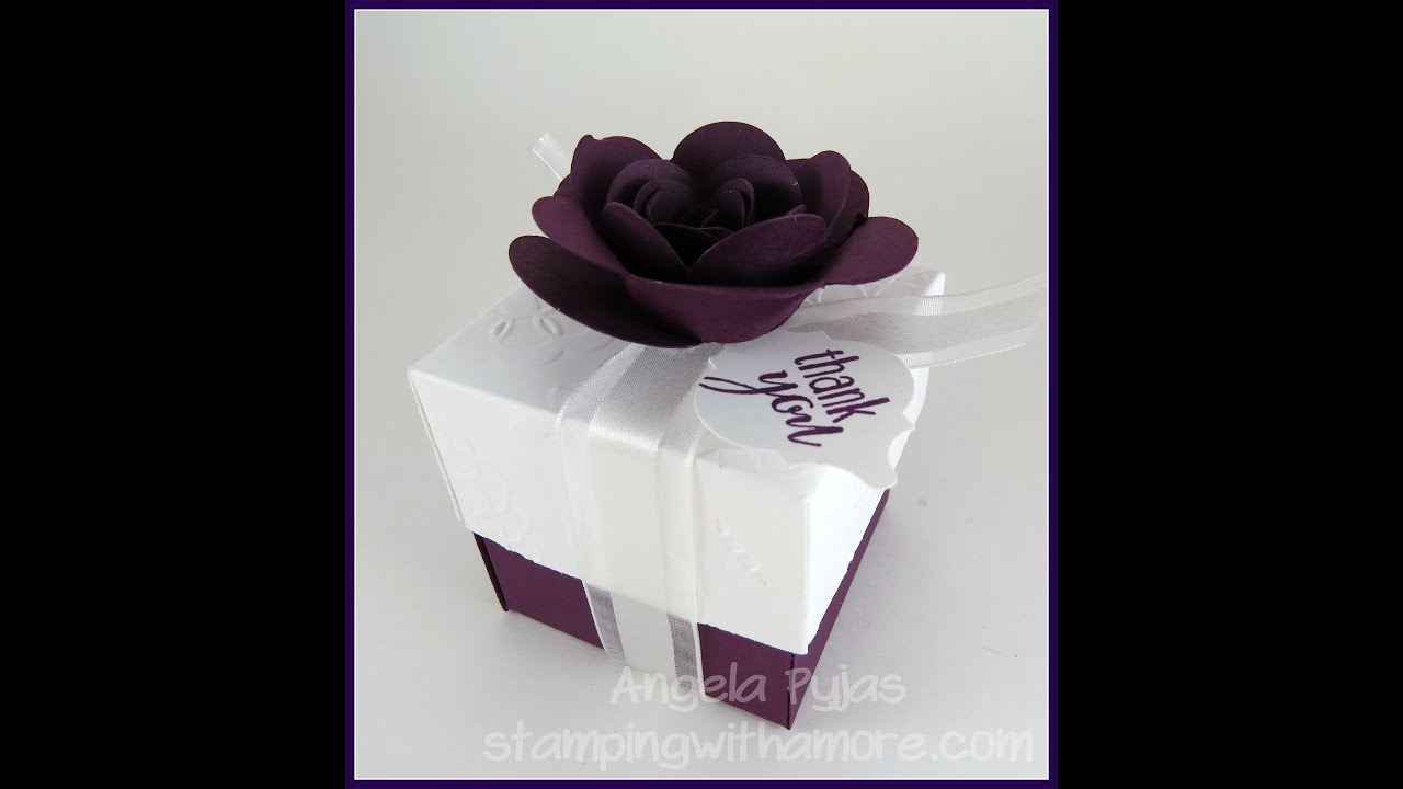 Wedding Favor Box - YouTube