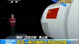 太空之吻:天宫一号与神舟九号成功实现首次载人自动交会对接