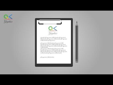 Paper Board and Pencil Adobe illustrator CC