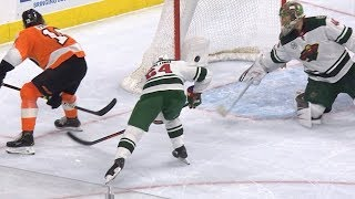 Nolan Patrick goes between own legs for fantastic finish