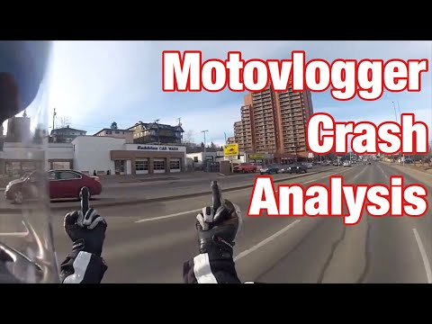 Motorcycle crash 5: Motovlogger Snowcat's Side Swipe Accident