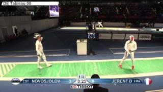 FE M E Individual Leipzig GER World Championships 2017 T08 02 green NOVOSJOLOV EST vs JERENT FRA