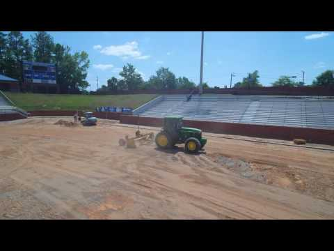Overhead view of Construction at Duck Samford Stadium in Auburn, AL