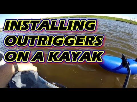 Stabilizing An Unstable Kayak - Installing Outriggers - #bassfishing #fishing