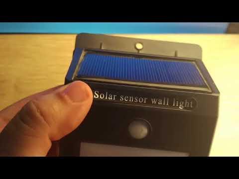 Review Solar Powered PIR LED Wall Light  -  WHITE LIGHT