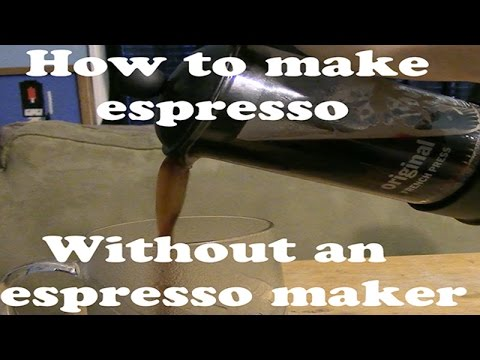 How to make a faux espresso at home without an espresso maker! - YouTube